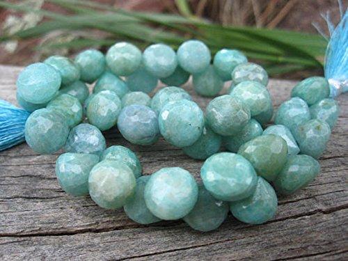 World Wide Gems Cuentas de piedras preciosas Amazonita Cuentas de cebolla tallada briolettes piedra natural 3 3/4