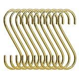 simpletome S Gancio Ganci a Forma di S Rame 10PCS (Oro)