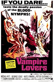 The Vampire Lovers Movie Poster (27 x 40 Inches - 69cm x 102cm) (1970) -(Ingrid Pitt)(Pippa Steele)(Madeleine Smith)(Peter Cushing)(George Cole)(Dawn Addams)