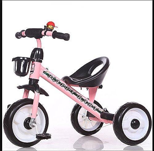 Kinder Dreirad fürrad 2-6 Jahre alt Baby Trolley m lich und Weißich Kind fürrad ( Farbe   Rosa )