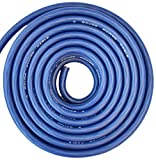 SoundBox Connected 4 Gauge Blue Amplifier Amp Power/Ground Wire 25 Feet Superflex Cable 25'