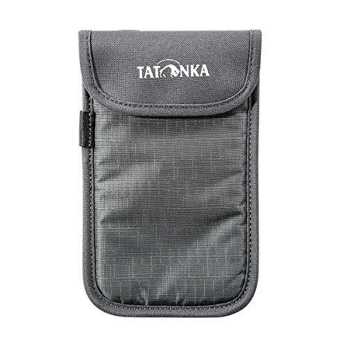 Tatonka Smartphone Case L Étui pour téléphone Portable Gris Titane Taille L 14 x 7 cm