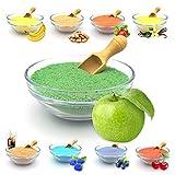 JuliDon Sabor de azúcar aromático 'manzana verde' para máquinas de algodón de azúcar, palomitas, cócteles, caramelos, azúcar aromatizado, 1 x 200 g