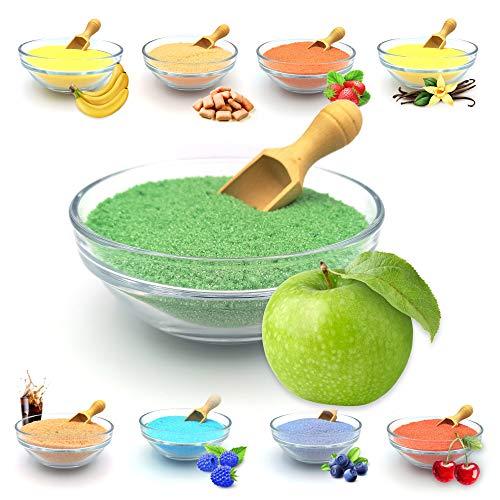 "JuliDon Sabor de azúcar aromático ""manzana verde"" para máquinas de algodón de azúcar, palomitas, cócteles, caramelos, azúcar aromatizado, 1 x 200 g"