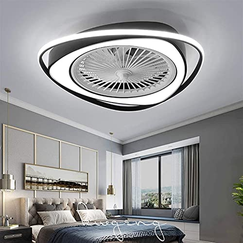 DIRIGIÓ Ventilador de techo, lámpara de techo de ventilador de ventilador moderna 38W ajustable, con lámparas de techo de dormitorio de iluminación, luz de salón regulable con control remoto a los fan