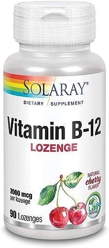 SOLARAY Vitamina B-12 2000mcg | Sabor a cereza natural sin azúcar | Energía saludable y soporte de glóbulos rojos | S...