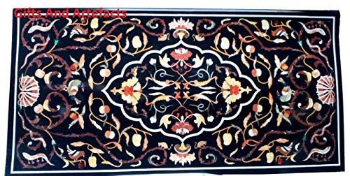Gifts and Artefakte Rechteckige Form Marmor Konferenztisch Tischplatte Esstisch Tischplatte Einlage Arbeit einzigartiges Design hergestellt von...