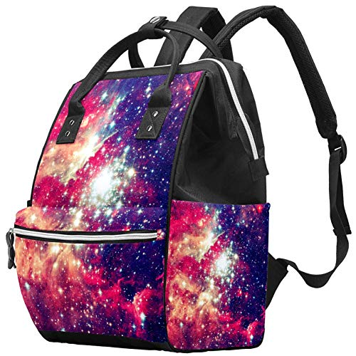 Bennigiry Galaxy Nebula Star Sac à langer Sac à dos de voyage Grande capacité Sac à dos Sac à langer Organisateur Multifonction Bébé Sacs pour maman