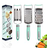 3in1 Stainless Steel Cheese Grater Handheld Zester Grinder...