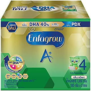 Enfamil Enfagrow Milk Powder A+ 360 Mind Plus 4 Vanilla Flavor -58.2 Oz/1.65kg,Appropriate for over 3 years and All the family,Give your baby the nutrients fully every day