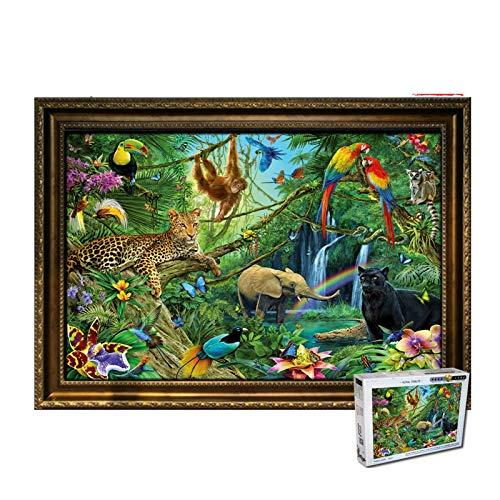 HongTeng-Puzzles Dschungeltiere übergroßen 6000 hölzerne Erwachsene Puzzles, Erwachsene und Kinder, die Beste Sammlung von Familienspielen (Size : 6000 Tablets)