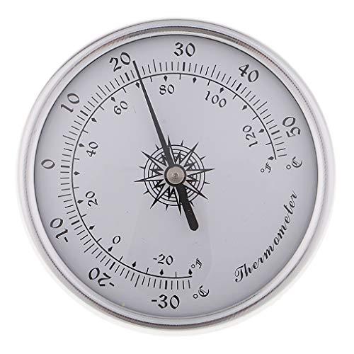 dailymall Digital Kalibrierbares Zigarren Humidor Hygrometer Rundes Silber
