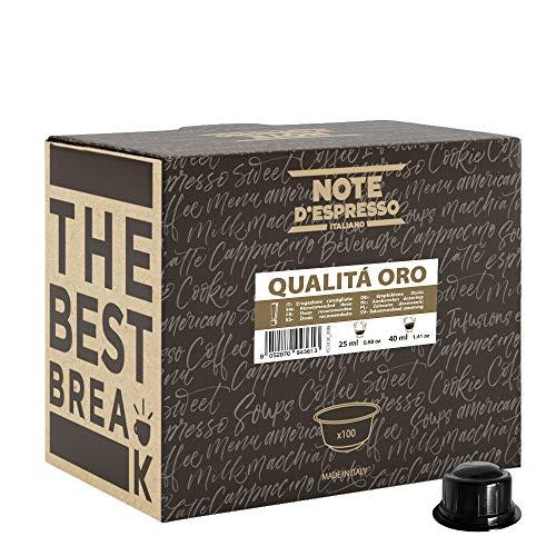 Note D'Espresso, Qualità Oro, Capsule Compatibili Soltanto con sistema CAFFITALY*, 100 caps X 6.8g