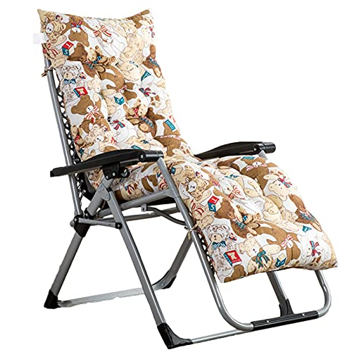 QAQA Rocking Chair Cushions, Sun Lounger Cushion Pads, Garden Sun Lounger Recliner Cotton Sofa Outdoor High Back Chair Seat Pad Slip Resistant Patio Furniture Overstuffed Bench Cushion,#3,48x120x8cm