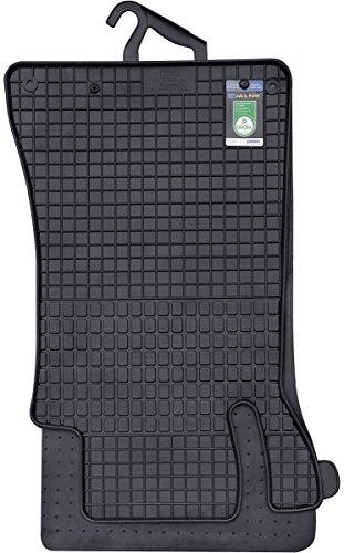 PETEX Gummimatten passend für C-Klasse (W203) ab 04/2000-02/2007 Fußmatten schwarz 4-teilig