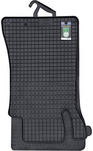 PETEX 46010 Gummimatte Mercedes C-Klasse W203 ab 04/2000-02/2007-passgenaue Auto Gummi Fußmatte 4-teilig, schwarz, Set of 4