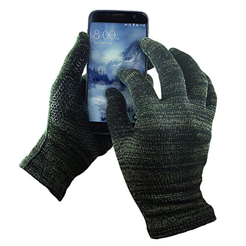 GliderGloves Copper Infused Touch Screen Gloves - Entire Surface Compatible with iPhones, Androids, Ipads, Tablets & More - Anti Slip Palm for Driving & Phone Grip - (Winter-Black, Medium)