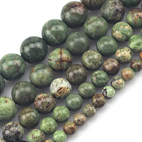 BDI140253 Beadings San Antonio Mall Excellent Natural Green Opal Spacer Beads for DIY