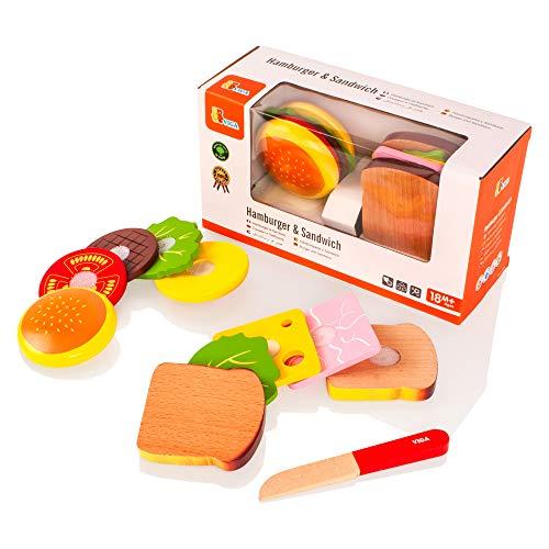 VIGA - Set mit Hamburger und Sandwich aus Holz