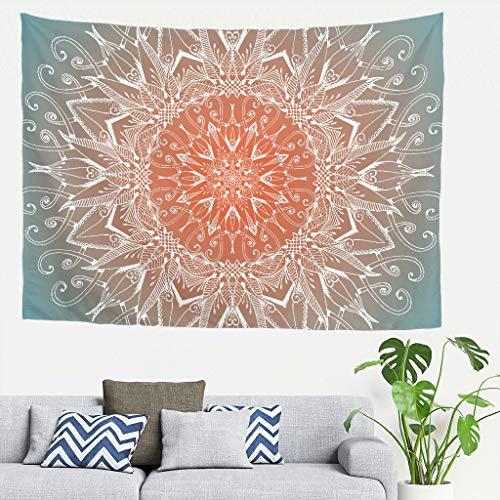 Tapiz Esmeralda Mandela Hippie Art - Mandela Art Beach Mantas para decoración de techo blanco 79 x 59