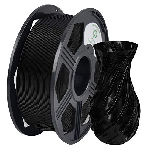 YOYI 3D Printer Filament, PLA Filament 1.75mm 2.2 lbs Spool (1kg), Dimensional Accuracy +/- 0.02 mm, 100% Europe Raw Material(black)