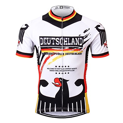 Thriller Rider Sports® Herren Germany Flag Sport & Freizeit MTB Fahrradbekleidung Radtrikot 3X-Large