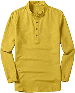 Dress Shirt for Men,Men's Tops Hanging Gradient Cool Thin Breathable Long Sleeve Cotton Shirt