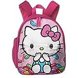Yusanbaihuodian Hello Kitty - Mochila escolar de colores con estampado de caramelos para niñas y niños, ideal para la escuela primaria o el aire libre