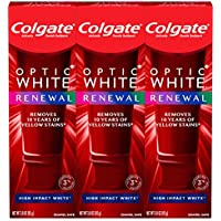 3-Pack Colgate Optic White Renewal Teeth Whitening Toothpaste