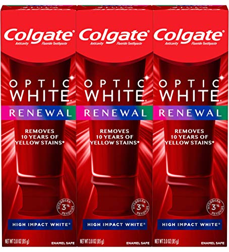 Colgate Colgate optic white renewal high impact white teeth whitening toothpaste - 3 ounce (3 pack), 3 Ounce