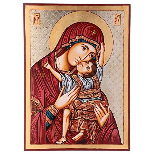 Holyart Rum?nische Ikone Gottesmutter von Wladimir, 45x30 cm