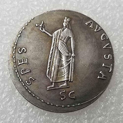 YunBest colección de Monedas Antiguas, Moneda de Philosopher King, Monedas del Imperio Romano, réplica de Monedas Romanas Antiguas, Monedas de Plata Morgan BestShop