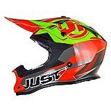 Just1 Casco j32 Professionista Rave Rosso / Lime TAGLIA XS