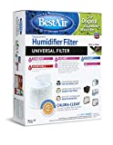 BestAir ALL-2, Extended Life Humidifier Replacement Paper Wick Filter, For Holmes, Sunbeam, Touch Point, White-Westinghouse, Bionaire, and GE Models, 7.75' x 10.5' x 3.1', Single Pack