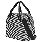 Lirex Lunch Tote Bag, Large Capacity Foldable Insulated Lunch Bag Multi-Function Cooler Lunch Box Container with Adjustable Shoulder Strap Two Exterior Pockets for Work Trip Beach Picnic Men Women