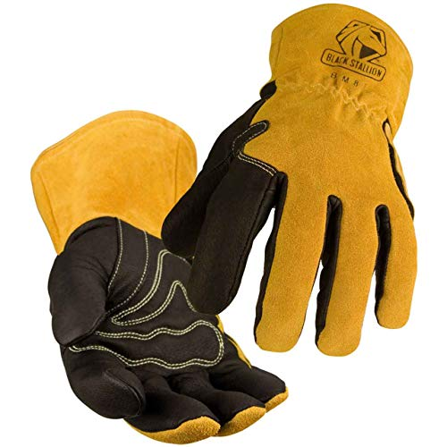 Product Image of the Black Stallion BSX BM88 Xtreme Pigskin MIG Welding Gloves, Small