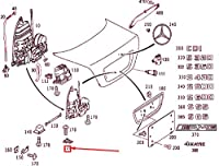 MB S W220 リア リッド マウンティング ハンドル ブラケット A2207580001 NEW GNUINE