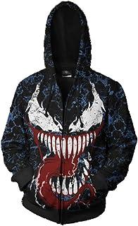 Venom Hoodie,3D Venom Hoodie for Men Printed Zipper Hoodie Sweatshirt