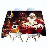 Shadow Mantel de tamaño y Color Manteles Impresos en 3D de Navidad Papá Noel Mantel Personalizado Mantel Mantel Colgante Personalizado con Regalos 152x228cm