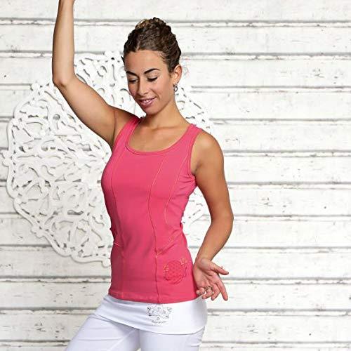 Yoga Top Malve Spirt of Om flor de la vida, talla S