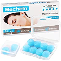 4-Pack Becheln Reusable Silicone Moldable Ear Plugs
