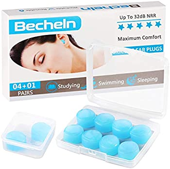 5-Pack Becheln Reusable Silicone Moldable Ear Plugs