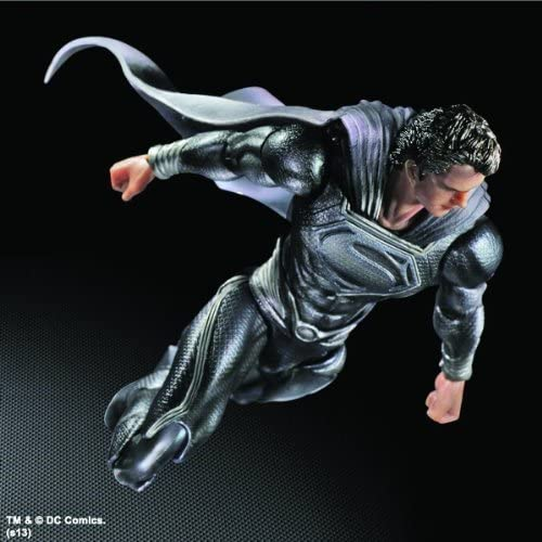 Man of Steel Play Arts Kai Superhomme noir Version NYCC 2013 Exclusive by Square Enix