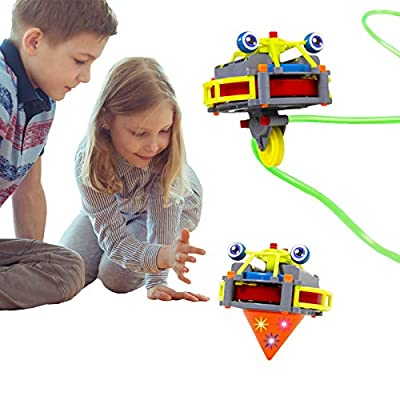 ritastar Light up Spinning Top, Anti Gravity Unicycle Tightrope Walking Robot Desktop Balance Tumbler Gyro Novel Educational DIY Toy for Decompression Entertainment Time-Consuming Kids Adults Gift