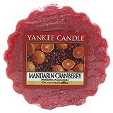 YANKEE CANDLE Mandarin Cranberry Tart da Fondere, Cera, Rosso, 6.1x5.7x2 cm