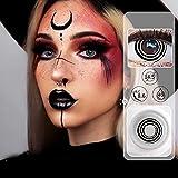 Quzuer Lentillas de Colores para Ojos Cosplay, Maquillaje para Fiesta, Cosplay, Desfile de Moda, Halloween (A14)