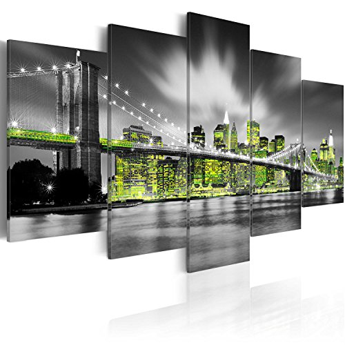 murando - Bilder 200x100 cm Vlies Leinwandbild 5 TLG Kunstdruck modern Wandbilder XXL Wanddekoration Design Wand Bild - New York City 030102-26