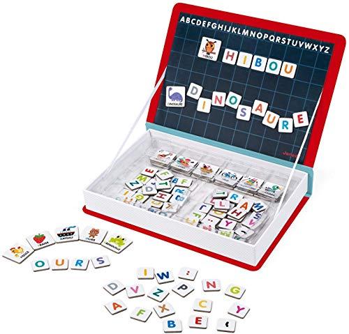 Janod - Magneti'Book Alphabet - Jeu Éducatif Magnétique 142 Pièces -Version Française - Dès 3 Ans, J02711