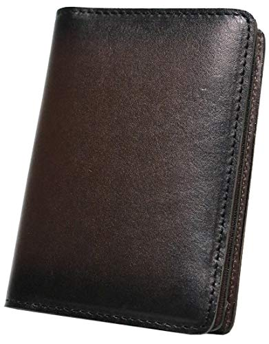 ダークブラウン 革 本革 牛革 メンズ レディース 薄型 名刺入れ カード入れ 定期入れ カードケース 名刺ケース マグネット 20枚 30枚 ブランド たくさん入る 大容量 ふたつ折り 皮 折れない 0010461-F-009w