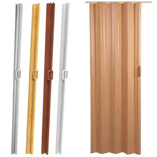 Jago – Puerta plegable de PVC – Nogal – aprox. 84/8/202 cm